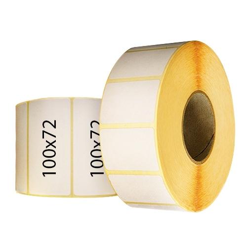 Термотрансферные этикетки 100х72 мм