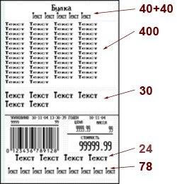 Этикетка весов