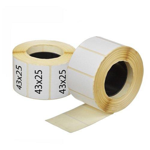 Термоэтикетки 43х25 мм